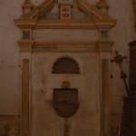 Interior de la  sacristia